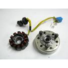 Alternateur , capteur allumage , volant magnétique PIAGGIO 125 X9 an 2003 type ZAPM2300001003803